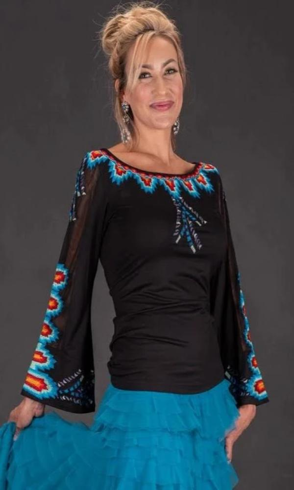 Vintage Collection Tribe Bell Sleeve Top - Cowgirl Kim
