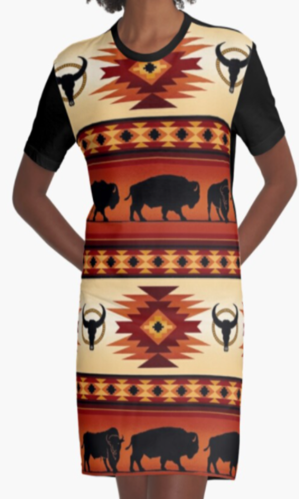 Cowgirl Kim Buffalo Canyon Tee Dress - In Stock