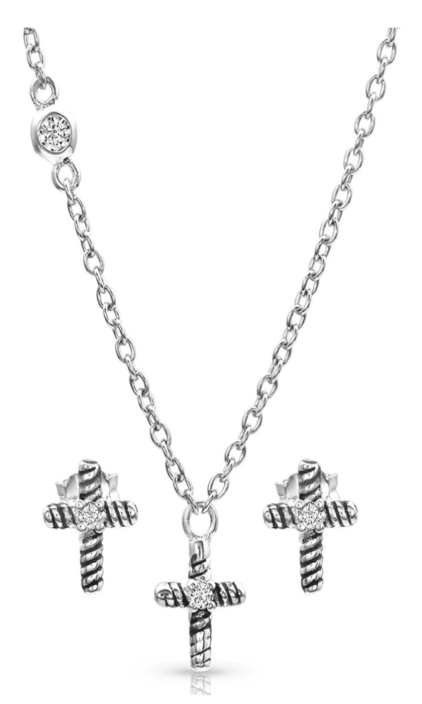 Montana Silversmith Strong Faith Cross Mini Jewelry Set - In Stock