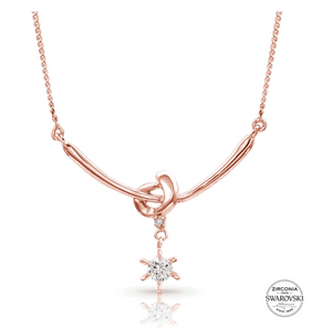 Sterling Lane Rose Love Knot Necklace - In Stock