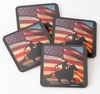 Cowgirl Kim American Cowboy Coasters - Set of 4