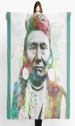 "Cowgirl Kim Chief Joseph Scarf - Large 55"" X 55"""
