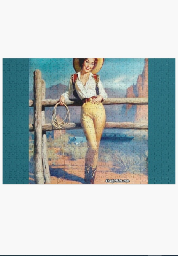 Cowgirl Kim Western Vintage Cowgirl 500 Piece Puzzle - In Stock