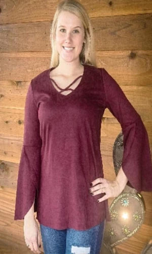 Joh Collection Adele Top~ Carmine - Cowgirl Kim