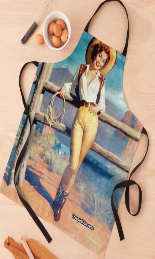 Cowgirl Kim Western Pin Up Cowgirl Apron - In Stock