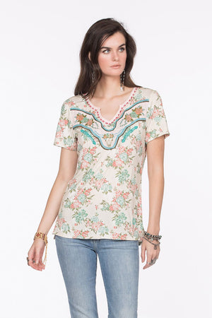 Double D Ranchwear The Westerner Tee - Cowgirl Kim