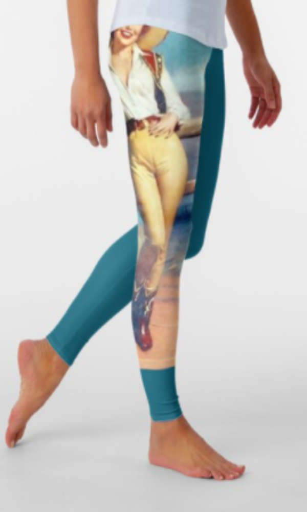 Cowgirl Kim Western Pin Up Cowgirl Leggings - In Stock