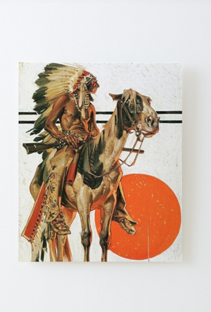 Cowgirl Kim Indian & His Horse Mounted Print - In Stock