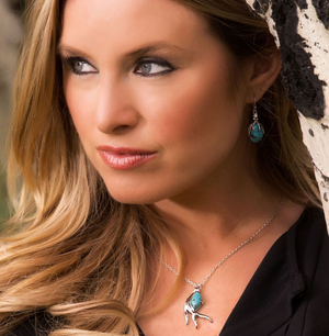 Sterling Lane Pursue the Wild Hidden Treasure Turquoise Necklace - In Stock