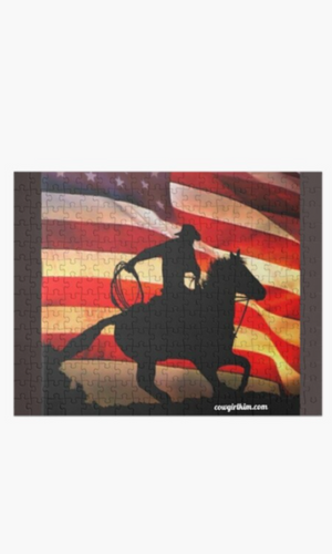 Cowgirl Kim American Cowboy 252 Piece Puzzle - In Stock