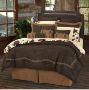 Cowgirl Kim Barbwire Comforter Set~ Chocolate - Cowgirl Kim