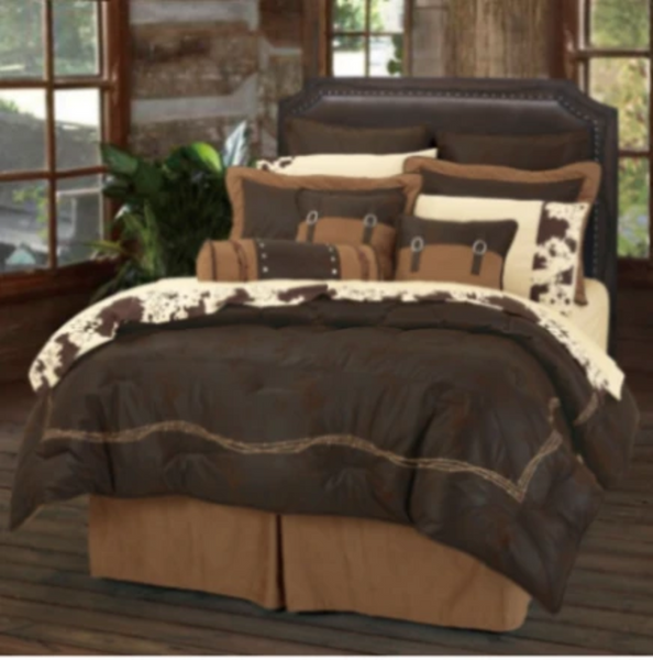 Cowgirl Kim Barbwire Bedding Set~ Chocolate - Cowgirl Kim
