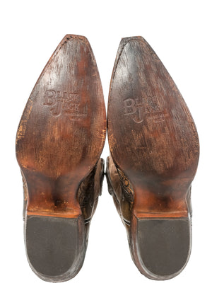 Black Jack~ Hand-Tooled Vamp Locust Cord Boot - Cowgirl Kim