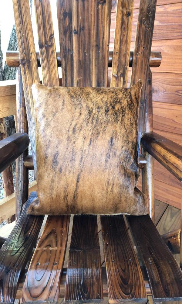 Cowgirl Kim Natural Cowhide Pillow~ Brindle Hide - Cowgirl Kim