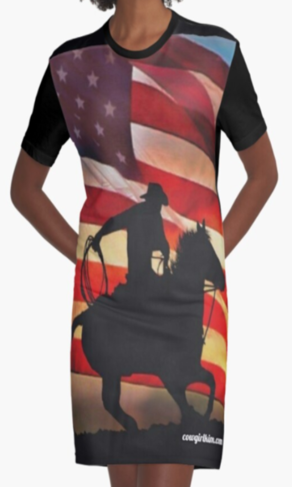 Cowgirl Kim American Cowboy Graphic Tee Dress - In Stock