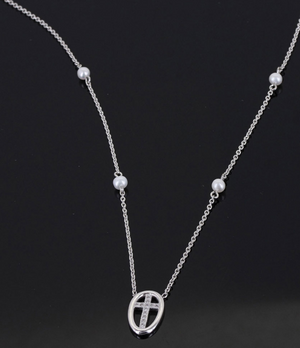 Sterling Lane Virtue of Faith Cross Necklace - In Stock