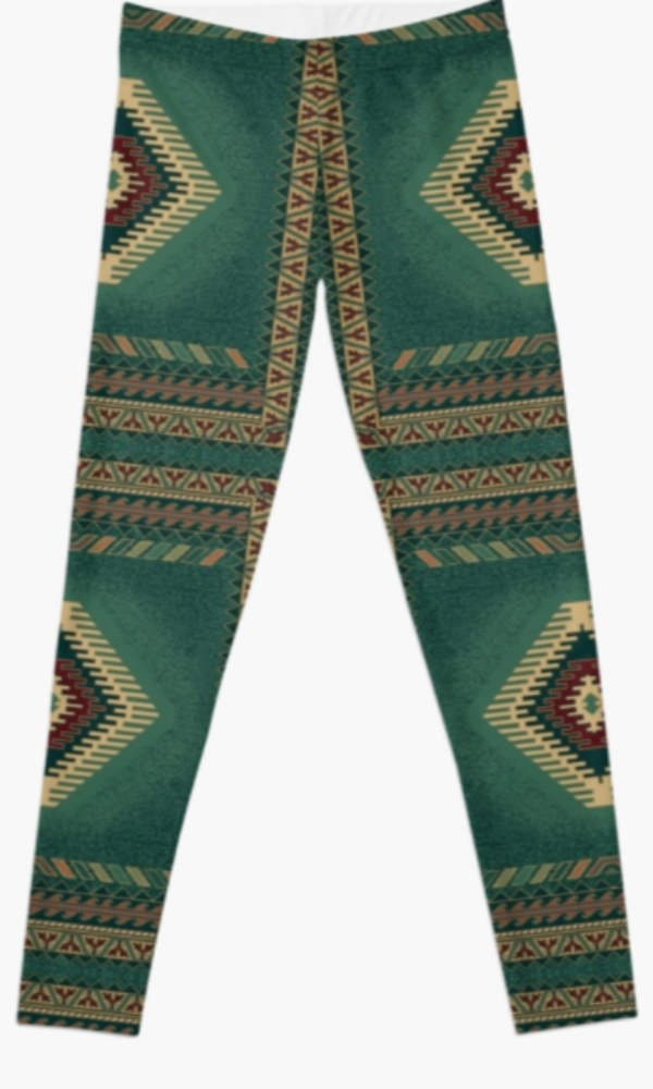 Cowgirl Kim Turquoise Waters Leggings
