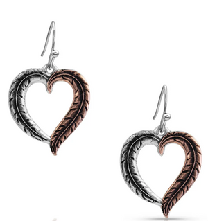 Montana Silversmith Hearts Aflutter Feather Earrings - In Stock