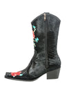 Rockwell Tharp Black Crocodile Roses Boot - Cowgirl Kim