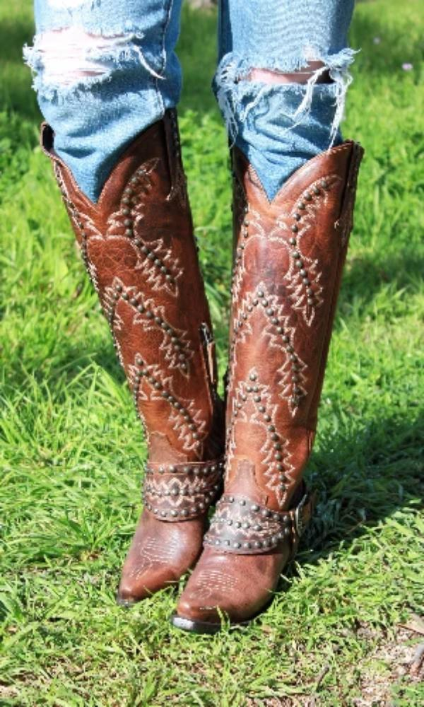 Cowgirl Kim Custom Desert Moon Boots by Lane
