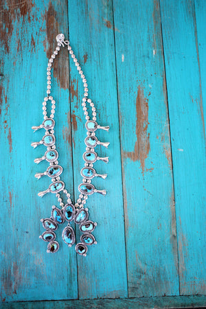 Sunwest Silver ~ Carico Lake and Dipped Sterling Silver Squash Blossom - Cowgirl Kim