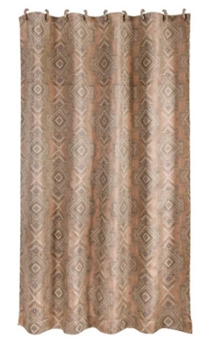 Cowgirl Kim Pale Sedona Shower Curtain - Cowgirl Kim