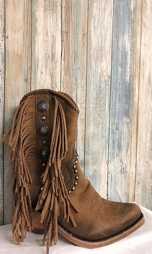 Liberty Black Susannah Short Fringe Boot~ Res Vega Faggio