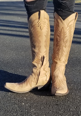 Old Gringo Moreen Tall Boot~ Bone~ Exclusive Cowgirl Kim Stitching Design