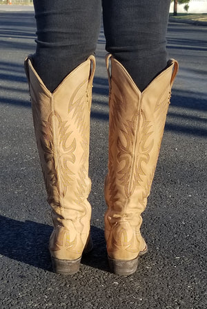 Old Gringo Moreen Tall Boot~ Bone~ Exclusive Cowgirl Kim Stitching - Cowgirl Kim