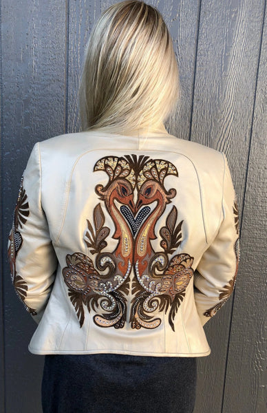 Kippy's Carnival Leather Jacket~ Cream