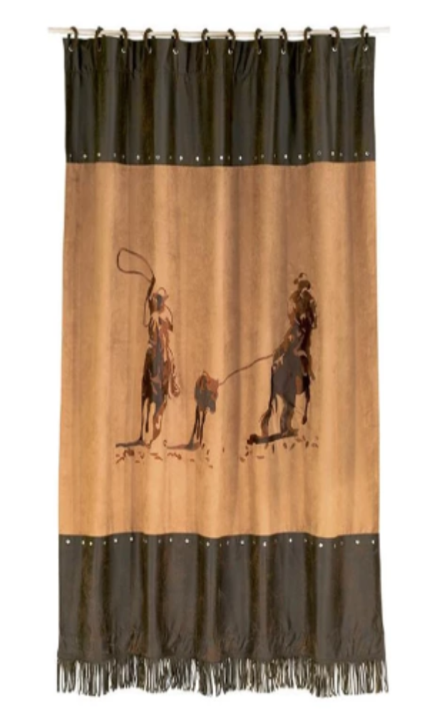 Cowgirl Kim Team Roper Shower Curtain - Cowgirl Kim