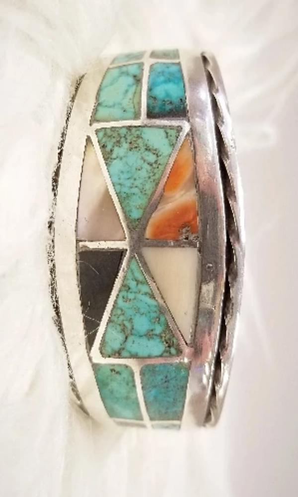 Peyote Bird Designs Vintage 1950's Zuni Cuff