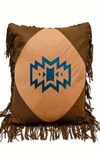 Cowgirl Kim Native American Faux Leather Pillow