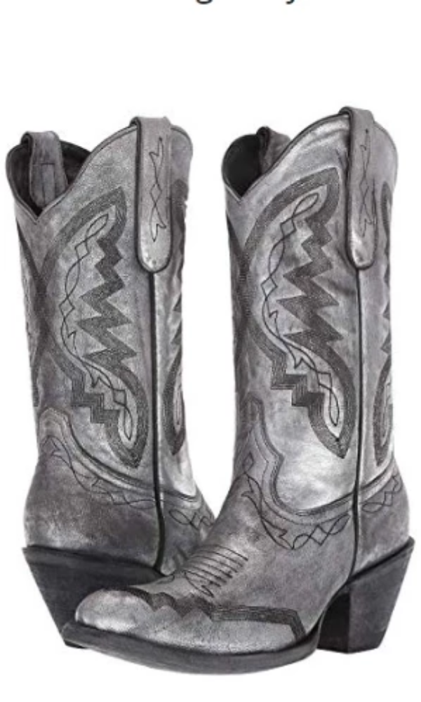 Yippee Ki Yay by Old Gringo~ Peyton Boots~ Silver