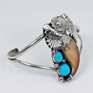Vicki Orr Vintage Bear Claw & Sleeping Beauty Turquoise cuff