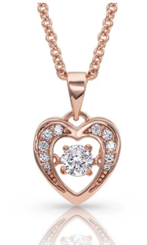 Montana Silversmith ~ Let's Dance A Little Dance Rose Gold Heart Necklace - Cowgirl Kim