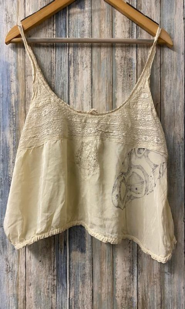 Magnolia Pearl Specialty Top 128 Silk Abella Top - One of a Kind