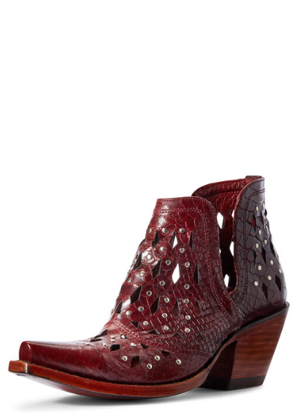 Ariat Dixon Studded Western Boot~ Red Snake - Style 10031504 - Cowgirl Kim