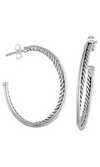Montana Silversmith ~ Twisted Rope and Wire Three Quarter Hoop Earrings - Cowgirl Kim