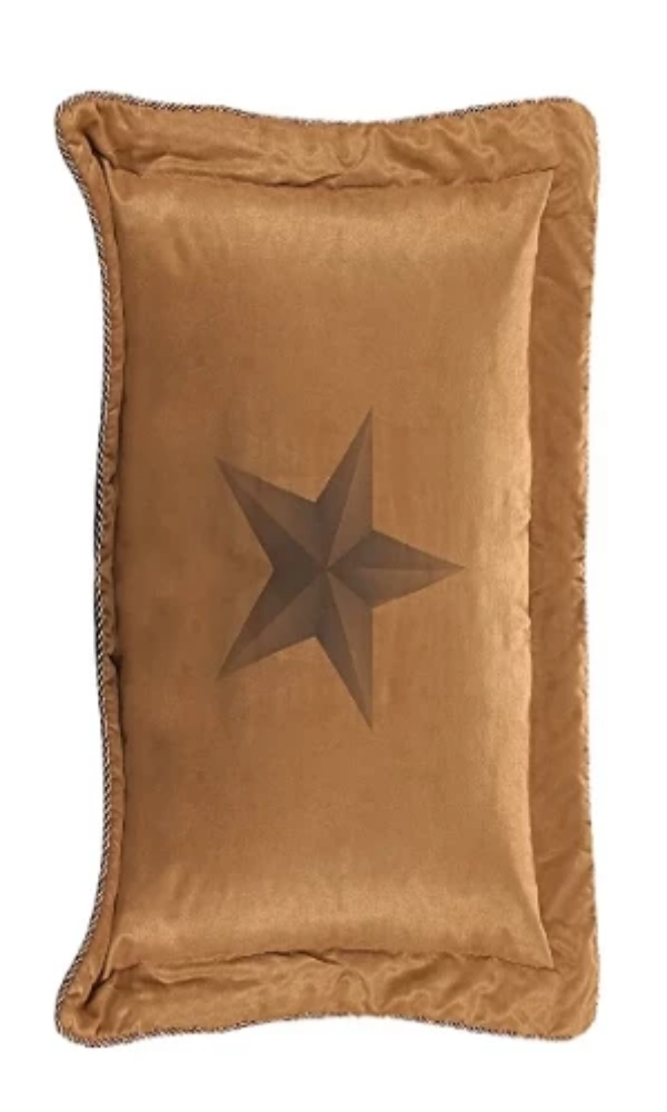 Cowgirl Kim Luxury Star Fuax Suede Pillow Sham - Cowgirl Kim