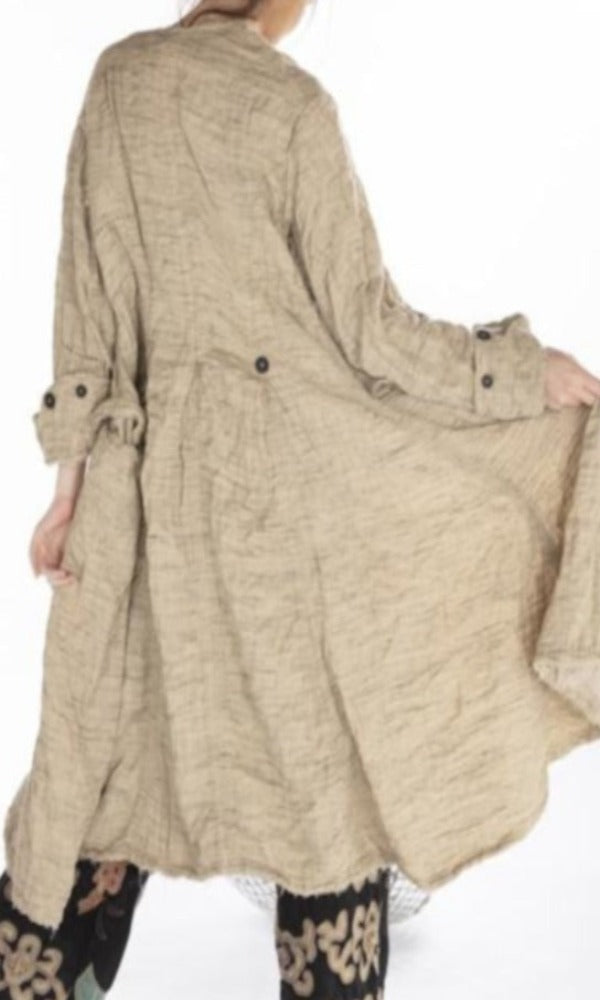 Magnolia Pearl Jacket 413 Raw Silk Leni Jacket - Sand