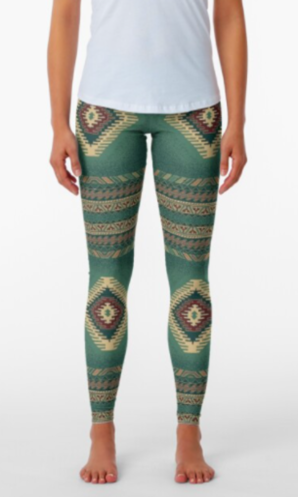 Cowgirl Kim Turquoise Waters of Cancun Leggings - In Stock
