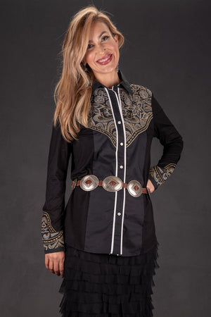 Vintage Collection Black Buck Western Shirt - Cowgirl Kim