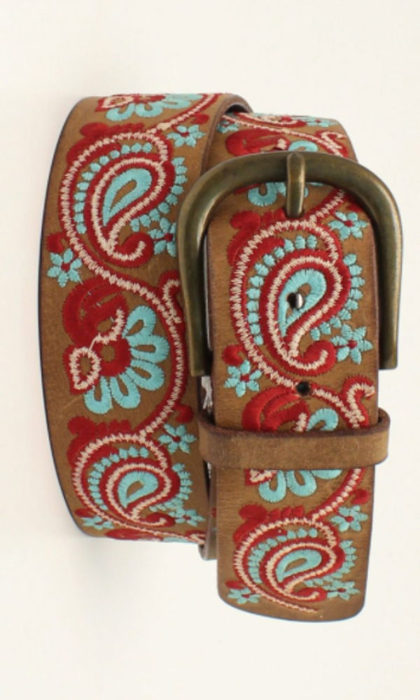 Ariat Embroidered Classic Belt - In stock