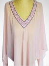 Cowgirl Kim Beaded V-Neck Poncho~ Pink- one size fits all - Cowgirl Kim