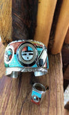 Cowgirl Kim Old Pawn Zuni Inlay Sun Face Spinner Jewelry Set~ Sold as a Set Only - Cowgirl Kim