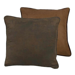 Cowgirl Kim Chocolate Faux Suede Euro Shams~ Shams Only - Cowgirl Kim