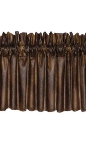 Cowgirl Kim Western Faux Leather Valance - Cowgirl Kim