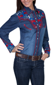 Scully Denim Western Shirt