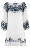 Vintage Collection Caroline White Embroidered Peasant Top